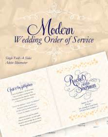 Wedding Order Of Service Template by Wedding Order Template 35 Free Word Pdf Psd Vector