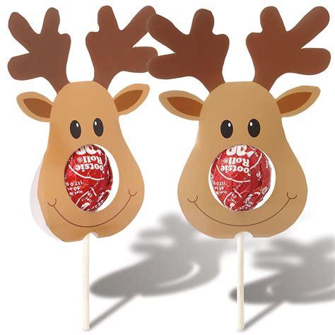 printable reindeer lollipop 12 reindeer lollipop holders current catalog
