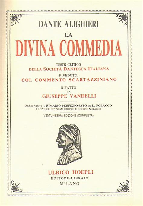 divina commedia testo la divina commedia alighieri dante libro hoepli editore