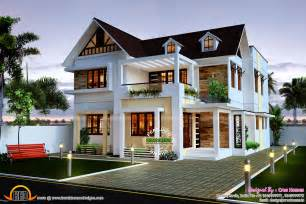 home design for beautiful 4 bedroom home kerala home design and