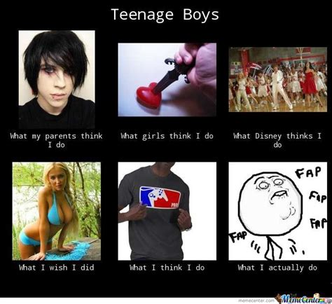 Young Girl Meme - teenage boys by 122750edwards meme center