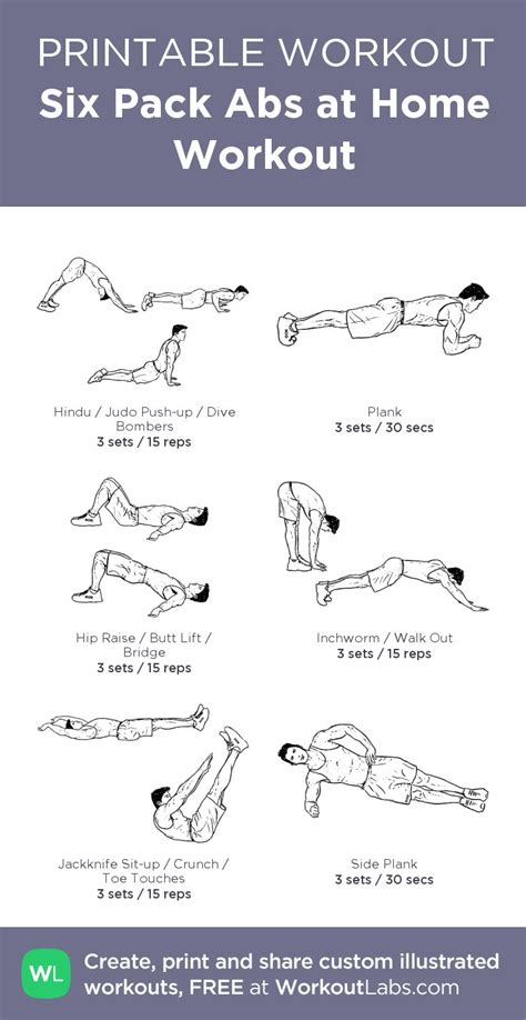 6 pack abs workout routine at home pdf eoua