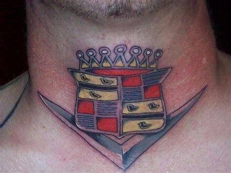 Cadillac Tattoos by Mens Neck With Cadillac Logo Tattoos Neck