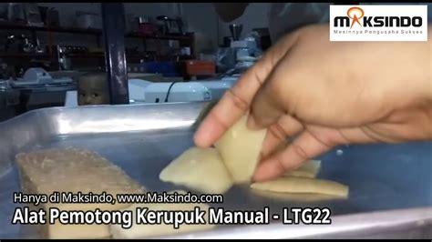 Mesin Pemotong Kerupuk Manual alat pemotong kerupuk lontongan manual