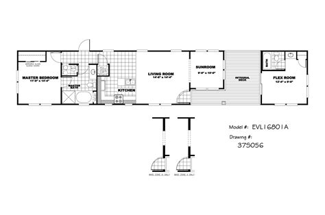 16 X 80 Mobile Home Floor Plans mobile home floor plans 2 bedroom on 16 x 80 single wide mobile home