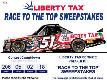 Top Sweepstakes To Enter - liberty tax service race to the top sweepstakes
