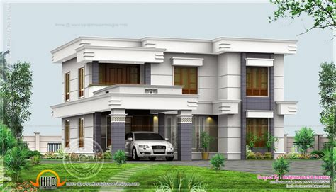 flat home design 4 bedroom flat roof design in 2500 sq ft kerala home
