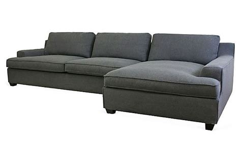 kaspar sectional sofa charcoal
