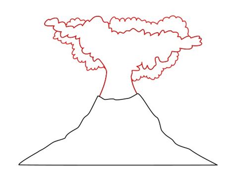 volcano outline template volcano outline clipart best