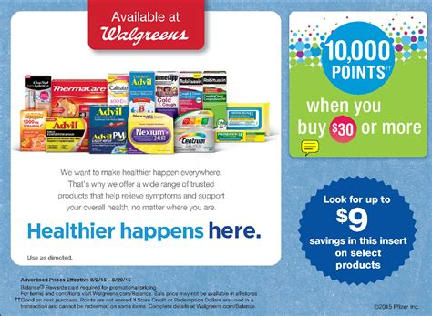 Viagra Coupon Walgreens by Walgreens Deal Buy Pfizer Products Get 10 000 Balance Rewards Points