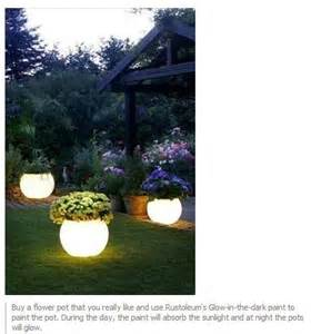 glow in the paint for outdoor pots crafty ideas