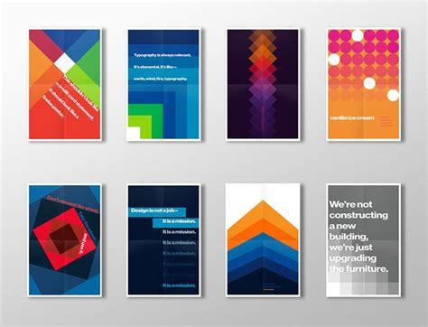 pattern and shape by kurt rowland make it beautiful swiss style poster series