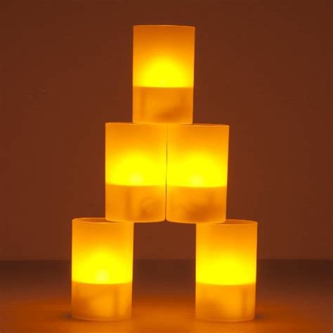solar led tea lights weanas 174 5pcs solar power led light candles yellow multi