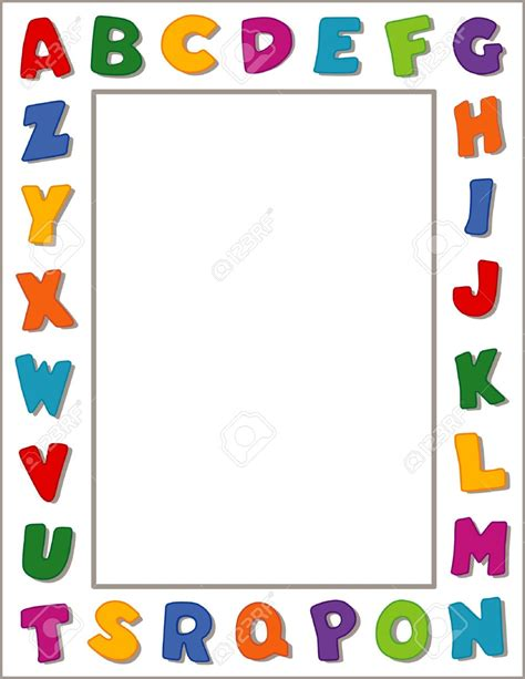 printable alphabet letters to frame school page borders google search preschool memory