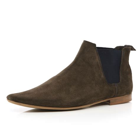 river island brown chelsea boots in brown for lyst
