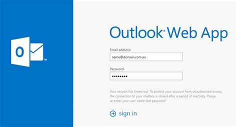 email owa outlook web access owa for hosted exchange iihelp