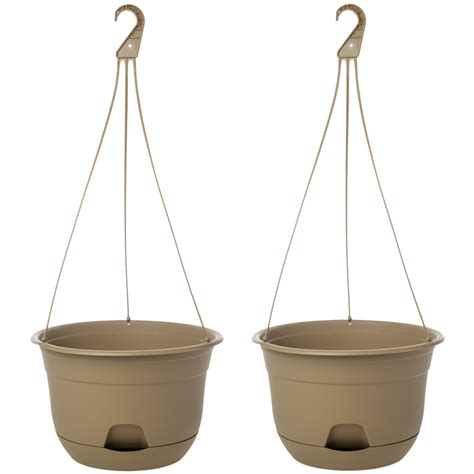 indoor hanging planters 2pk suncast 12 self watering hanging planter indoor outdoor flowers garden usa ebay