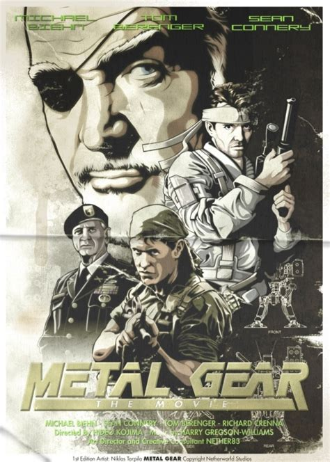 cool fan made video game movie poster art quot god of war real video game fake movie poster metal gear video