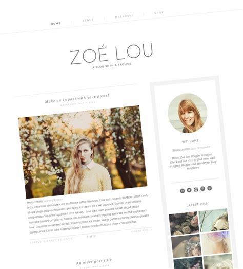templates blogger modern zoe lou modern blogger template web blogger templates