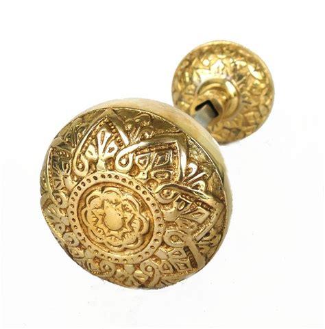 vintage brass arts and crafts style door knob