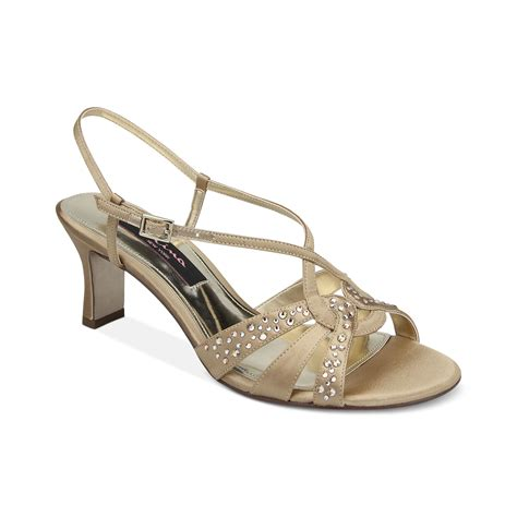 gold evening sandals golby evening sandals in gold lyst