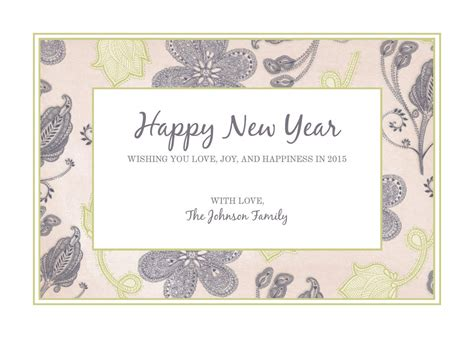 Free And New Year Card Templates by Free New Year Templates Exles Lucidpress
