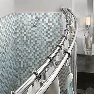 Bed Bath And Beyond Shower Rod Moen Adjustable Double Curved Chrome Shower Rod Bed Bath