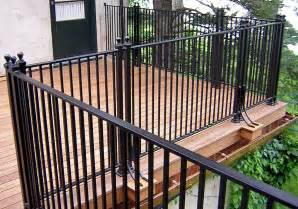 Patio Handrail by Iron Deck Railing Systems Ideas Designs Styles Amp Options