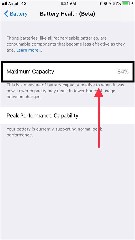 iphone 6s plus max battery capacity after 28 months iphone