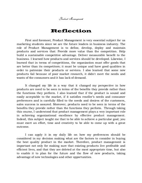 Research Reflection Essay by Reflection On Consumer Behavior Methods Of Research And Product Mana