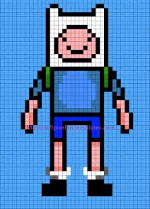 How To Make Minecraft Pixel Templates by Minecraft Pixel Templates Finn From Adventure Time