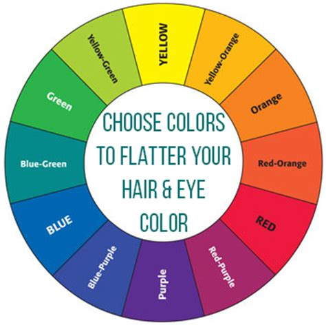 color wheel for hair headshots which colors will flatter your hair and eye