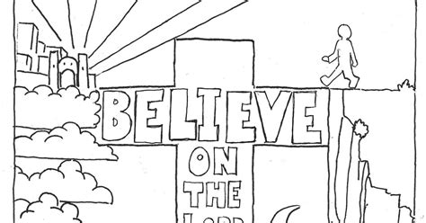 Coloring Page Acts 9 by Coloring Pages For By Mr Adron Believe On The Lord