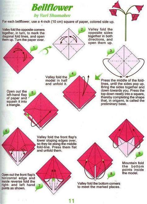 Bell Flower Origami - flower bell