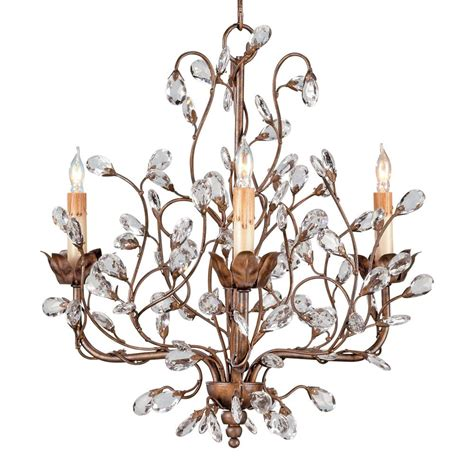 Enchanted Forest Crystal Bud 3 Light Chandelier Kathy Forest Chandelier