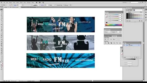 tutorial web banner adobe illustrator tutorials web banner design youtube