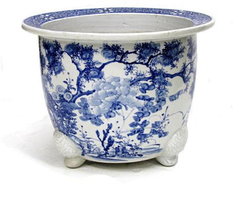 Antique Japanese Blue And White Porcelain Planter The Blue And White Porcelain Planters