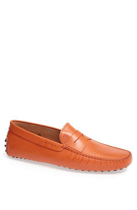 tods driving shoes womens tod s gommini driving shoe in orange for lyst