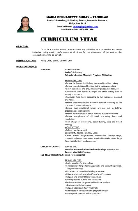 information technology objective statement professional cv exles for fresh graduates