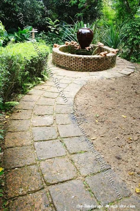 Landscape Ideas With Pavers Square Pavers To Create A Pathway Garden Outdoor