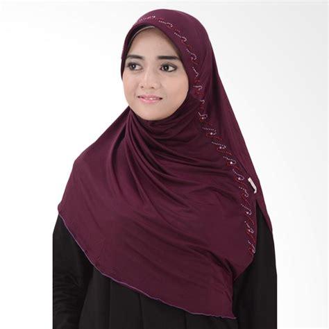 Jilbab Instan Nabila jual atteenahijab nabila reysa jilbab instant ungu tua