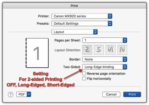 print layout word mac print a word 2016 document single vs two sided microsoft
