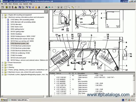volvo construction equipment prosis 2011 spare parts