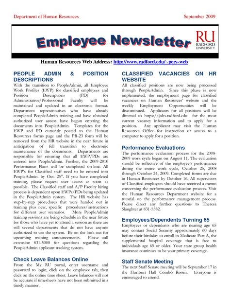 Staff Newsletter Template 28 Images Sle Employee Newsletter Template 9 Free Documents Four Staff Newsletter Templates Free