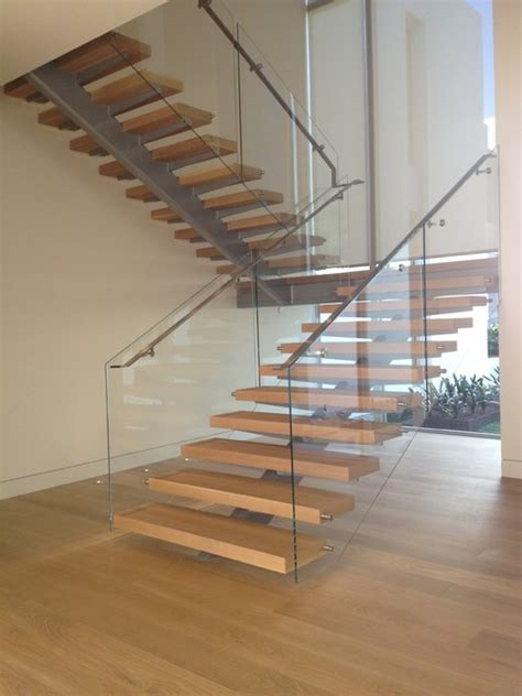 Architectural Design Kitchens by Stairart Glass And Stainless Steel On Floating Stairs