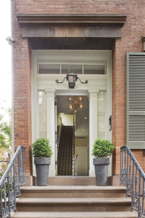 townhouse entryway ideas new york city townhouse traditional entry new york