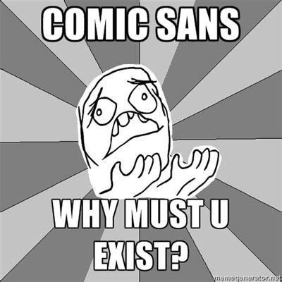 Comic Sans Meme - web design trends to look out for in 2016