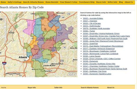 zip code map of atlanta zip code map search for atlanta mls