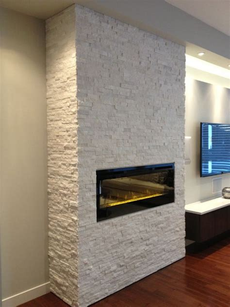 Stacked Electric Fireplace by 1000 Images About Polar White Real Stacked