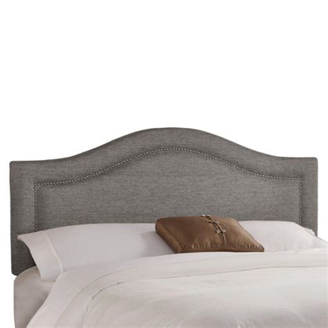 pewter headboard skyline furniture twin inset nail button headboard in